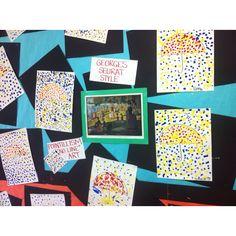 Seurat pointillism lesson for kindergarten