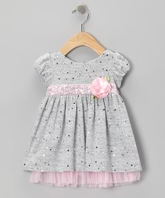 Gray Flower Knit Dress - Infant | Daily deals for moms, babies and kids