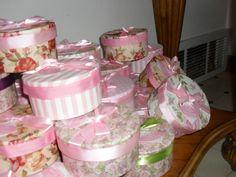 Baby shower favor boxes. Princess tea party.