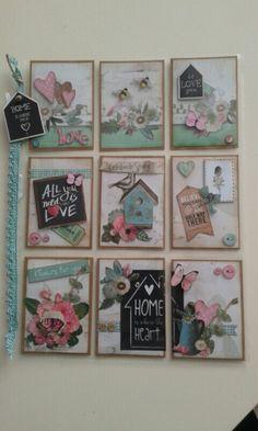 Home Sweet Home Bird House Pocket Letter Scrapbook Paper Crafts, Scrapbook Supplies, Paper Crafting, Pocket Pal, Pocket Cards, Atc Cards, Journal Cards, Pocket Envelopes, Envelope Lettering
