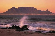 Up table mountain at sunset. After 6pm, it's half price :) but only till 29 Feb...