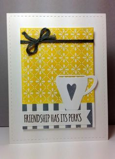 What's Brewing and coffee cup die: Simon Says Stamp, #SSSFAVE, embossing, by beesmom - Cards and Paper Crafts at Splitcoaststampers