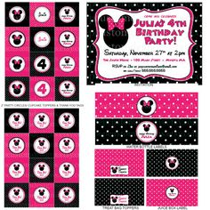 Lisa Pep does beautiful party printables for birthdays.  I got everything for Maggie's 4th birthday party from her, and will order from her for all our parties!  She's fast, easy to work with and super affordable.