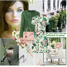 IN YOUR EYES I SEE THE REFLECTION OF SPRING by lovemeforthelife-myriam on Polyvore featuring мода, Burberry, Twin-Set, Christian Louboutin, Yves Saint Laurent, Missoni and Oris