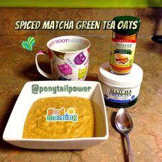 Spiced Green Tea Matcha Oats