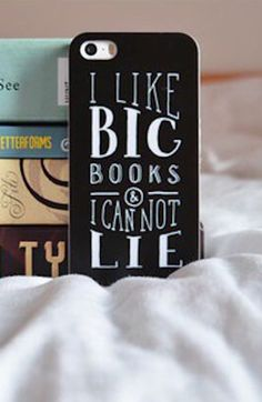 I like big books and I cannot lie. We also like sweet phone cases from Redbubble—and that ain't a lie either! Find more lovely bookish cases from Redbubble.com.