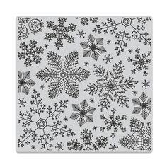 Hero Arts Cling Stamp HAND DRAWN SNOWFLAKES Bold Prints CG685 zoom image