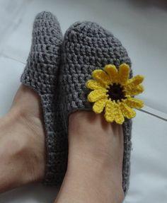 Crochet Slippers Womens  Adult Crochet Slippers Home by Ifonka, $18.00