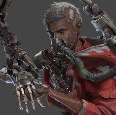 Tech priest by Phoebe Herring : ImaginaryWarhammer Warhammer 40k Art, Warhammer Fantasy, Rogue Traders, Tumblr, In The Flesh, Priest, Dark Fantasy, Rogues, Character Art