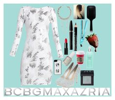 """""""Shining"""" by eemsles ❤ liked on Polyvore featuring мода, BCBGMAXAZRIA, Kate Spade, Essie, NARS Cosmetics, Mary Kay, Victoria's Secret, amika и GHD"""