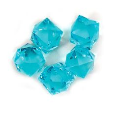 Acrylic Crystal Ice Rock Twelve Star, 3/4-inch, 150-piece