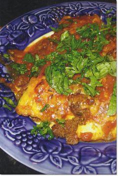 grain-free enchiladas - interesting idea of making egg tortillas...