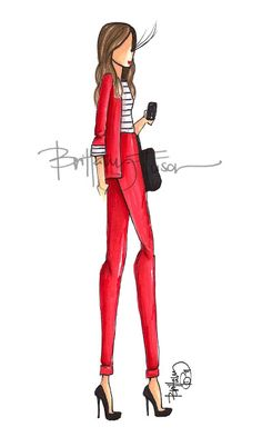 brittany fuson- colorful suit with neutral shirt & accessories Illustration Mode, Fashion Illustration Sketches, Fashion Design Sketches, Fashion Art, Girl Fashion, Womens Fashion, Girly, Moda Chic, Glamour