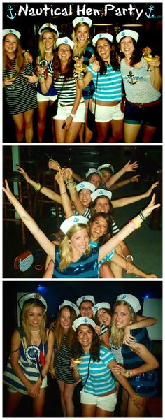The best Nautical themed Hen Party ever with all of our best girlfriends #nautical #sailor