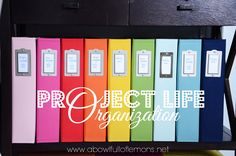 A Bowl Full of Lemons - Project Life Organization {How She Organizes supplies for creating hand-made 'project life' photo albums