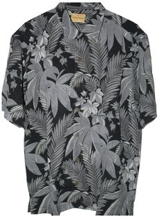 Tommy Bahama Peter Fronda Silk Camp Shirt (Color: Coal, Size L): Clothing http://tommytyme.com/