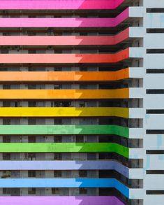 Michael Wolf, Miami Art Deco, Colourful Buildings, Fashion Forecasting, Facade Architecture, Color Shapes, World Of Color, Architect Design, Skull Art
