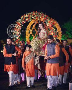 Indian Wedding Theme, Desi Wedding Decor, Wedding Stage Decorations, Wedding Mandap, Indian Wedding Outfits, Wedding Bride, Dream Wedding, Bride Entry, Wedding Entrance