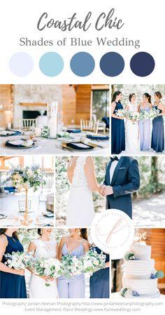Wedding Color Pallet, Wedding Color Schemes, Beach Wedding Colour Scheme, Wedding Color Combinations, Indigo Wedding, Blue Wedding, Floral Wedding, Dream Wedding, June Wedding Colors