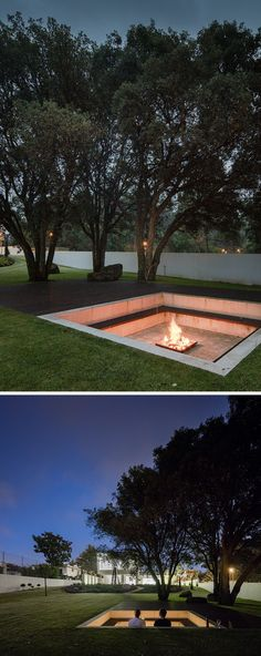 3 Enhancing Clever Tips: Fire Pit Backyard Back Yards small fire pit patio.Fire Pit Backyard Back Yards. Sunken Fire Pits, Concrete Fire Pits, Diy Fire Pit, Fire Pit Backyard, Backyard Seating, Landscape Design, Garden Design, Fire Pit Landscaping, Landscaping Ideas