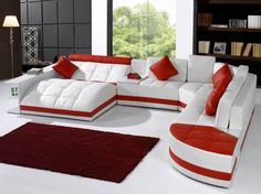 Contemporary Red Leather Sofa Set 10 Luxury Leather Sofa Set Designs That Will Make You Excited Sofa Set Designs, Sofa Design, Interior Design, Contemporary Sofa, Modern Sofa, Modern Sectional, Round Sofa, Living Room Sofa, Cozy Living