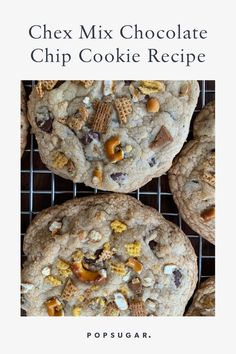 I Made Chrissy Teigen's Chex Mix Chocolate Chip Cookies, and Hello, New Obsession Chocolate Chip Recipes, Chocolate Chip Cookies, Chocolate Ganache, Chip Cookie Recipe, Cookie Recipes, Chrissy Teigen Recipes, Jelly Cookies, Shortbread Cookies, Baking Championship