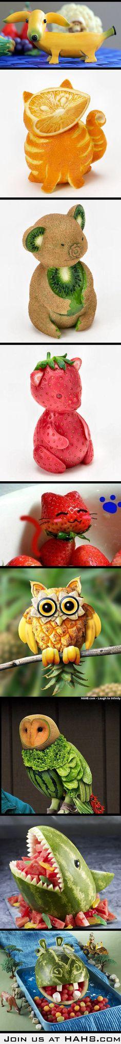 Food crafts on Fruits!