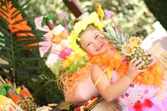 Hawaiian party birthday party party girl