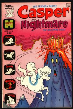 Casper the Friendly Ghost and Nightmare #45 1974 Ghostly Trio Wendy Witch Harvey Comics