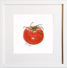 Tomato Print Irish Design, Framed Prints, Art Prints, Pigment Ink, Colour Schemes, Watercolor Paper, Wooden Frames, All The Colors, Illustration