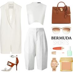 How to style your bermuda by mariekc on Polyvore featuring polyvore, fashion, style, Zara, By Malene Birger, Chloé, Michael Kors, Alexander McQueen, AERIN and Forever 21