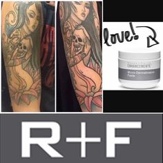 ☠ATTENTION TATTOO LOVERS!!☠ Not only is R+F Micro-Dermabrasion Paste great for ingrown hairs, cracked heels and exfoliating our face - it is also awesome for keeping that ink nice and bright! Try it out today! With a 60 day money back guarantee, there's NOTHING to lose!   www.allywilson.myrandf.com