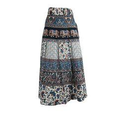 Mogulinterior Wrap Around Skirt Ethnic Printed Womens Long Beach Wrap dress 1