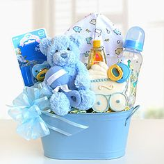 Cuddly Welcome for Baby Boy Gift Basket   World Market