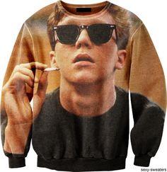 breakfast-club-sweater Sweaters Kinda love it Looks Style, Style Me, 80s Fashion, Womens Fashion, Rock Fashion, Cheap Fashion, Fashion Killa, Fashion Addict, Dressing