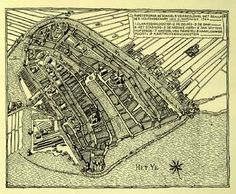 Het oudste Amsterdam, ca. Amsterdam Map, Amsterdam Holland, Star Fort, Old Maps, City Maps, Rotterdam, Old Pictures, Windmill, Netherlands