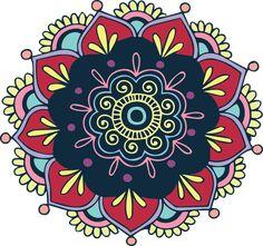 Shop Colorful Vintage Indian Mandala Boho Round Pillow created by ZenPrintz. Indian Mandala, Round Pillow, Free Illustrations, Vintage Colors, Colorful Flowers, Vector Art, Free Images, Outdoor Blanket, Etsy
