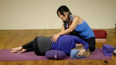 Restorative Yoga sequence releasing the back