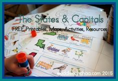 The United States Geography for Kids with FREE printable maps, resources & activities from waddleeahchaa.com