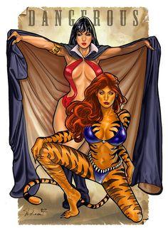 Vampirella and Tigra