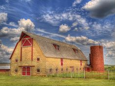 beautiful stone barn...Bellvue Farm.  Dickinson County, Kansas is known for its stone buildings.