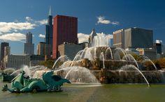 Buckingham Memorial Fountain, Chicago, USA