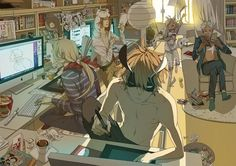 Manga Mondays ~ Old Xian Manhwa Manga, Manga Anime, Mosspaca Advertising Department, Tan Jiu, Illustrator, Days Manga, 19 Days, Fan Art, Anime Artwork