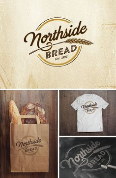 can you create a rustic logo for my bakery specializing in crusty, artisan bread? by Agi Amri