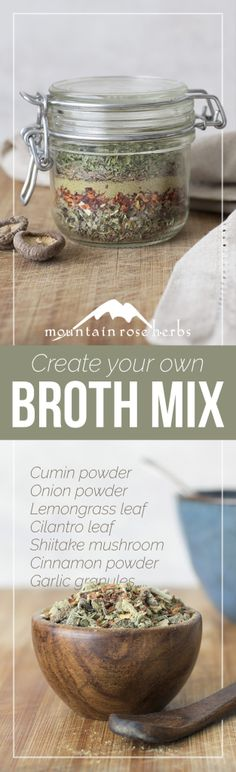 DIY Create Your Own Broth Mix!
