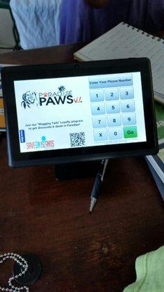Paradise Paws kiosk St. Thomas, Virgin Islands