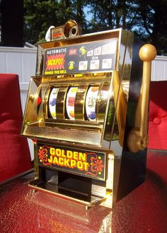 The Golden Jackpot Slot Machine by DayJahView on Etsy, $64.00