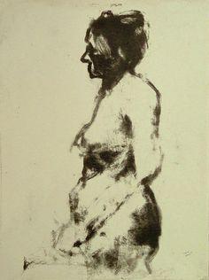 Great blog post - Embellished Skeleton: Narrative Figure Drawing. (Image - Robert D'Arista, monotype)