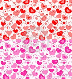 Vector illustration - dual seamless hearts Valentines Day. EPS 10, RGB. #background #decor #heart #love #ornament #pattern #pink #red #seamless #valentine #wedding #design #vector #dreamstime