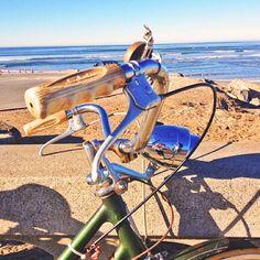 Morning beach cruise with SWELL's Nicki. #ilovebikes #beachcruiser